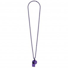 Purple Party Supplies - Whistle on Chain Necklace