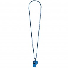 Blue Party Supplies - Whistle on a Chain Necklace