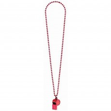 Red Party Supplies - Whistle On Chain Necklace