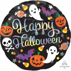 Halloween Party Supplies - Foil Balloons - Holographic Iridescent