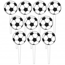 Soccer Fan Plastic Party Picks