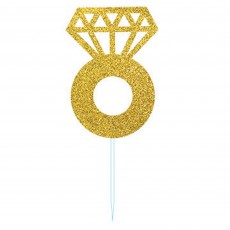 Glittered Gold Party Picks 9cm Pack of 24