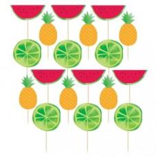 Hawaiian Luau Fruit Deluxe Party Picks