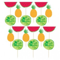 Hawaiian Party Decorations Fruit Deluxe Party Picks