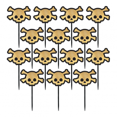 Halloween Party Supplies - Party Picks - Skull