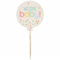 Baby Shower Party Supplies - Party Picks Neutral Welcome Baby!