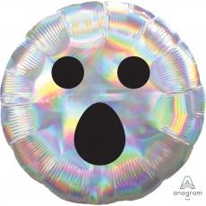 Halloween Party Supplies - Foil Balloons - Iridescent Ghost Face