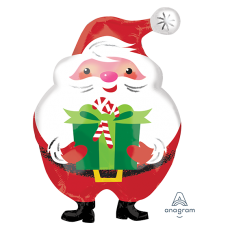 Christmas Junior Shape XL Jovial Santa & Present Shaped Balloon
