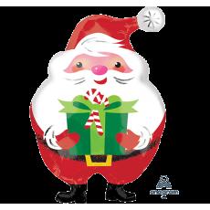 Christmas Junior XL Jovial Santa & Present Shaped Balloon