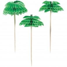 Hawaiian Luau Party Supplies - Party Picks Honeycomb Palm Tree