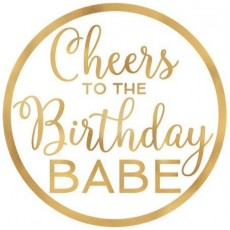 Happy Birthday Confetti Fun Cheers to the Birthday Babe Coasters 9.5cm Pack of 18