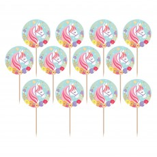 Magical Unicorn Foil Party Picks Pack of 24