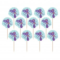Mermaid Wishes Party Picks Pack of 24