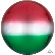 Green Ombre Red &  Shaped Balloon