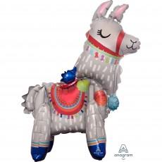 Llama Fun Party Decorations - Shaped Balloon Standing Llama