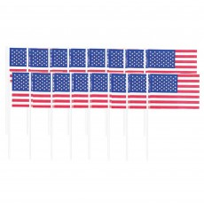 USA Patriotic American Flag Party Picks 6cm Pack of 120