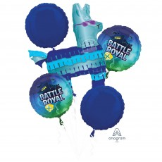 Battle Royal Party Decorations - Foil Balloons Bouquet