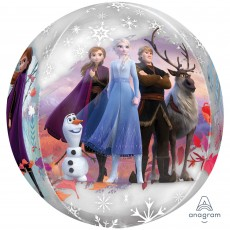 Orbz XL Disney Frozen 2 Clear Shaped Balloon 38cm x 40cm