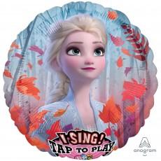 Round Disney Frozen 2 Jumbo Sing-A-Tune Singing Balloon 71cm