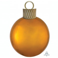 Christmas Party Decorations - Shaped Balloon Orbz & Ornament Kit Gold