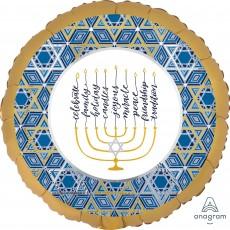 Hanukkah Party Decorations - Foil Balloon Festival of Lights