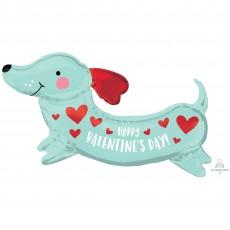 Valentine's Day SuperShape XL Weiner Sausage Dog Shaped Balloon