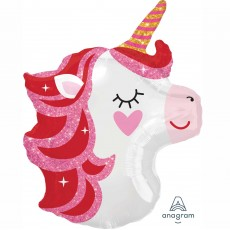 Magical Unicorn Junior Shape XL Pretty in Pink Shaped Balloon