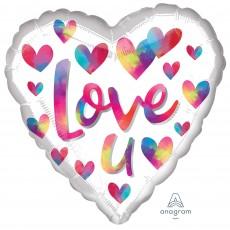 Heart Standard HX Colour Splash Love U Shaped Balloon 45cm