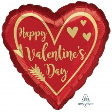 Heart Standard HX Arrow Heart Happy Valentine's Day Shaped Balloon 45cm