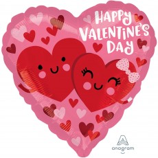 Heart Standard HX Hearts in Love Happy Valentine's Day Shaped Balloon 45cm