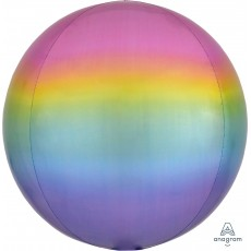 Multi Colour Pastel Ombre  Shaped Balloon