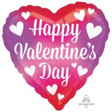 Heart Standard HX Splash of Colour Happy Valentine's Day Shaped Balloon 45cm