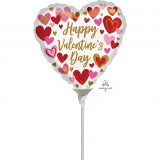 Heart Playful Hearts Happy Valentine's Day! Shaped Balloon 10cm