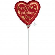 Heart Arrow Heart Happy Valentine's Day Shaped Balloon 22cm