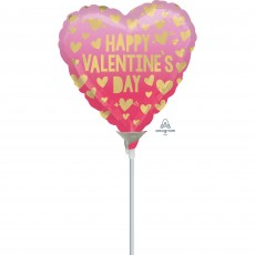 Pink Ombre Valentine's Day Foil Balloon 10cm