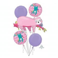 Sloth Bouquet Foil Balloons