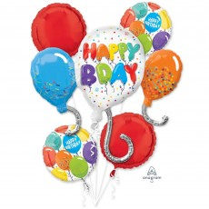 Happy Birthday Celebration Bouquet Foil Balloons