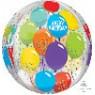 Orbz XL Clear Celebration Shaped Balloon