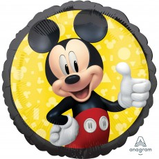 Round Mickey Mouse Forever Standard HX Foil Balloon 45cm