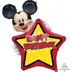 Mickey Mouse Forever SuperShape Personalized XL Shaped Balloon 63cm x 76cm