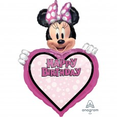 Minnie Mouse Forever SuperShape Personalized XL Shaped Balloon
