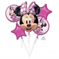 Bouquet Minnie Mouse Forever Foil Balloons Pack of 5