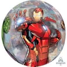 Orbz XL Clear Avengers Marvel Powers Unite Shaped Balloon 38cm x 40cm