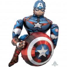Avengers Captain America Airwalker Foil Balloon 86cm x 99cm