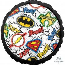 Round Justice League Standard HX Foil Balloon 45cm