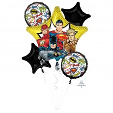 Justice League Bouquet ii Foil Balloons Pack of 5