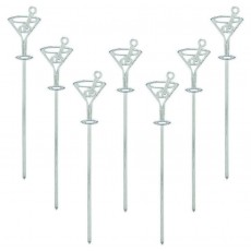 Misc Occasion Cocktail Glasses Electroplated Plastic Party Picks
