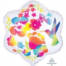 Hawaiian Party Decorations Watercolour Flowers Shaped Balloons