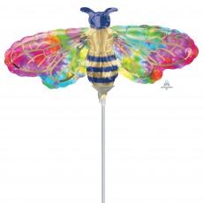 Feeling Groovy & 60's Mini Tie-Dye Bee Shaped Balloon
