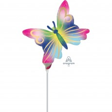 Multi Colour Mini Satin Watercolour Butterfly Shaped Balloon